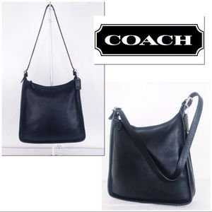 Coach Vintage Black Leather Andrea Shoulder Bag